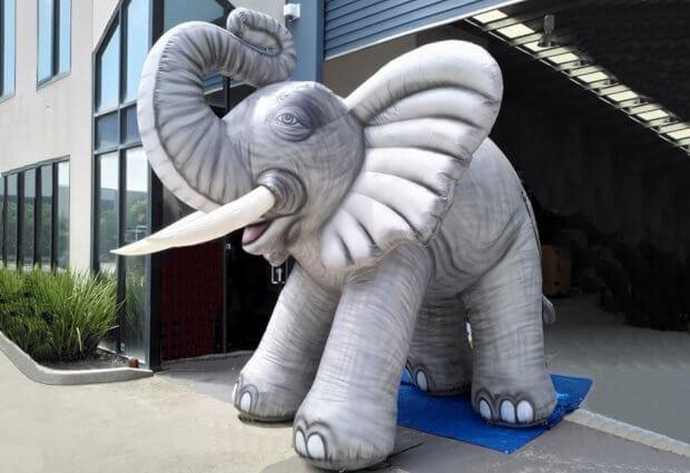 Opblaasbare olifant